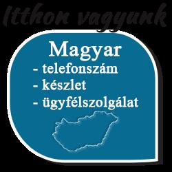 Itthon vagyunk:  magyar telefonszám, magyar készlet, magyar ügyfélszolgálat