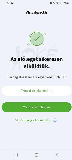 OTP SZÉP kártya fizetés app-ból 6