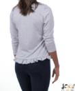 Sötétkék pöttyös női pamut pizsama