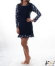 Női pamut hálóing kék jegesmacis
