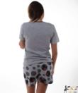 Minni női pamut rövidnadrágos pizsama szürke