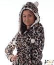 Pihe-puha vastag pizsama overál leopárd mintás
