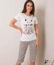 Női pamut halásznadrágos pizsama cicás