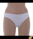 Lemila női fehér csipkés brazil bugyi