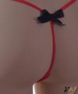 Spagetti pántos randi bugyi piros Flower