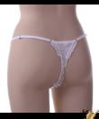 Spagetti pántos tüll szexi bugyi fehér Flower