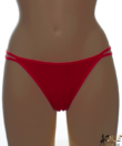 Lagoon piros dupla pántos női tanga