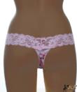 Lagoon világos rózsaszín csipke pántos virágos női tanga