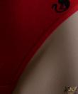 Lemila piros cicás női bugyi