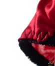 Lemila piros szatén csipkés női bugyi