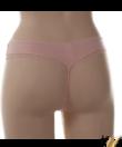 Púder rózsaszín csipkés női bugyi