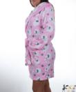 Rózsaszín barikás pihe puha wellsoft női köntös