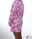 Rózsaszín tappancsos pihe puha wellsoft női köntös