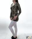 Lucifer bézs párduc mintás női pamut pizsama
