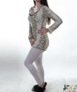 Lucifer bézs kígyó mintás női pamut pizsama