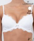 Lormar Prestige gél push up melltartó fehér B kosár
