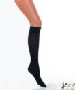 Lineaoro fekete mintás női térdharisnya Cybil