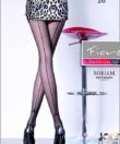 Fiore fekete mintás harisnyanadrág Miriam