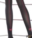 Fiore fekete combfix mintás,hátul csíkos harisnya nadrág 40D Canella