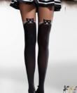 Individual fekete cicás combfix hatású női harisnyanadrág 50d