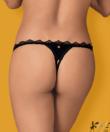 Obsessive Lolitte nyitott fekete pántos bugyi