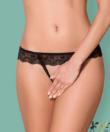 Obsessive szexi fekete nyitott csipke tanga