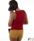 Kikiriki piros v-nyakú basic női atléta