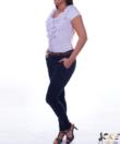 Kikiriki fehér fodros női felső