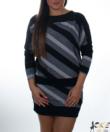 Fekete-ezüst denevér ujjú női tunika