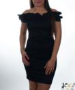 Kikiriki fekete fodros női ruha