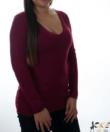 Bordó finomkötött női pulóver