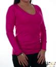 Magenta finomkötött női pulóver