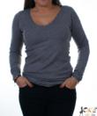 Sötétszürke finomkötött női pulóver