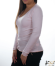 Világos rózsaszín finomkötött női pulóver