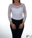Fehér csipkés női body