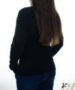 Fekete zsenilia hatású fonott mintás női pulcsi