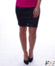 Kikiriki fényes női fekete ceruzaszoknya