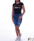 Fekete női póló arany felirattal