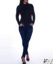 Kikiriki fekete galléros női felső