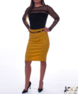 Magasított derekú pamut női szoknya