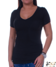 Fekete v nyakú női felső