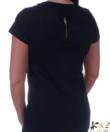 Fekete masnis gyöngyös női felső