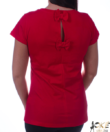 Piros masnis gyöngyös női felső