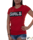 Piros fehér feliratos női felső