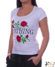 Rózsa nothing fehér női felső