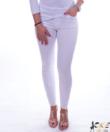 3/4 fehér rojtos, szaggatott női farmer nadrág