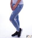 Szaggatott női farmer nadrág