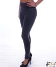 Szürke magasított derekú női farmer nadrág