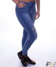 Kék push up női szaggatott farmer