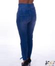 Kék magasított derekú női farmer nadrág